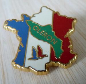 Beau Pin S Carte De France Ile D Oleron Zamac Dore A L Or Fin Ebay
