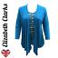 LADIES TWINSET TOP /& WATERFALL CARDIGAN ELEGANT DESIGN SOFT MATERIAL SIZES 10-22