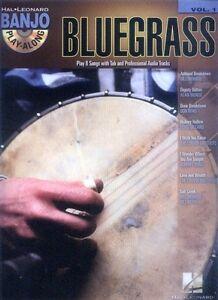 Banjo-Play-Along-1-Bluegrass-Songbook-Tabulatur-Tab-mit-CD