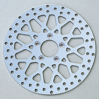 """BRAKE ROTOR REAR POLISHED STAINLESS 11.8/"""" FIT HARLEY TOURING 2008-UP FLH DYNA"""