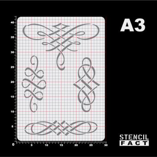 A3 Schablone Typografie 4 Schlußstück Ornamente Renaissance BS344