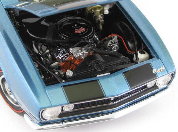 1 Z28 Camaro 1967 Chevy Built årgång Race bil 12 bilousel blå 24 modelllllerlerl 18