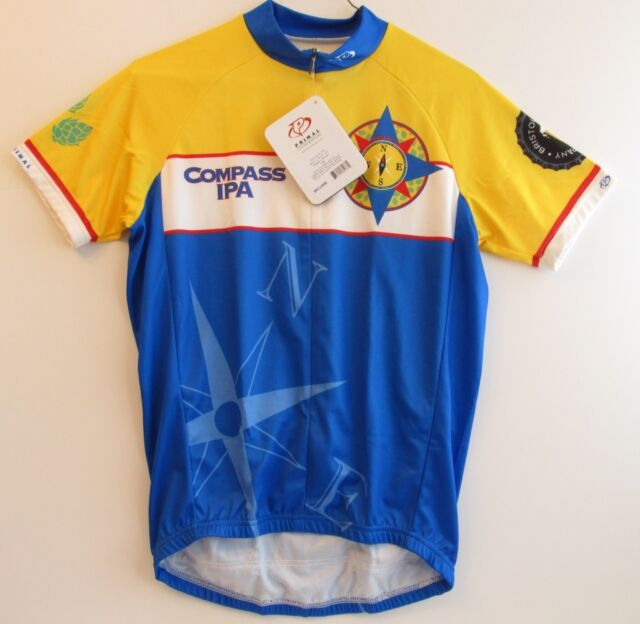 770854993 Cycling Jersey Primal Wear Men s Small Compass IPA 3 4 Hidden Zip New with  Tags