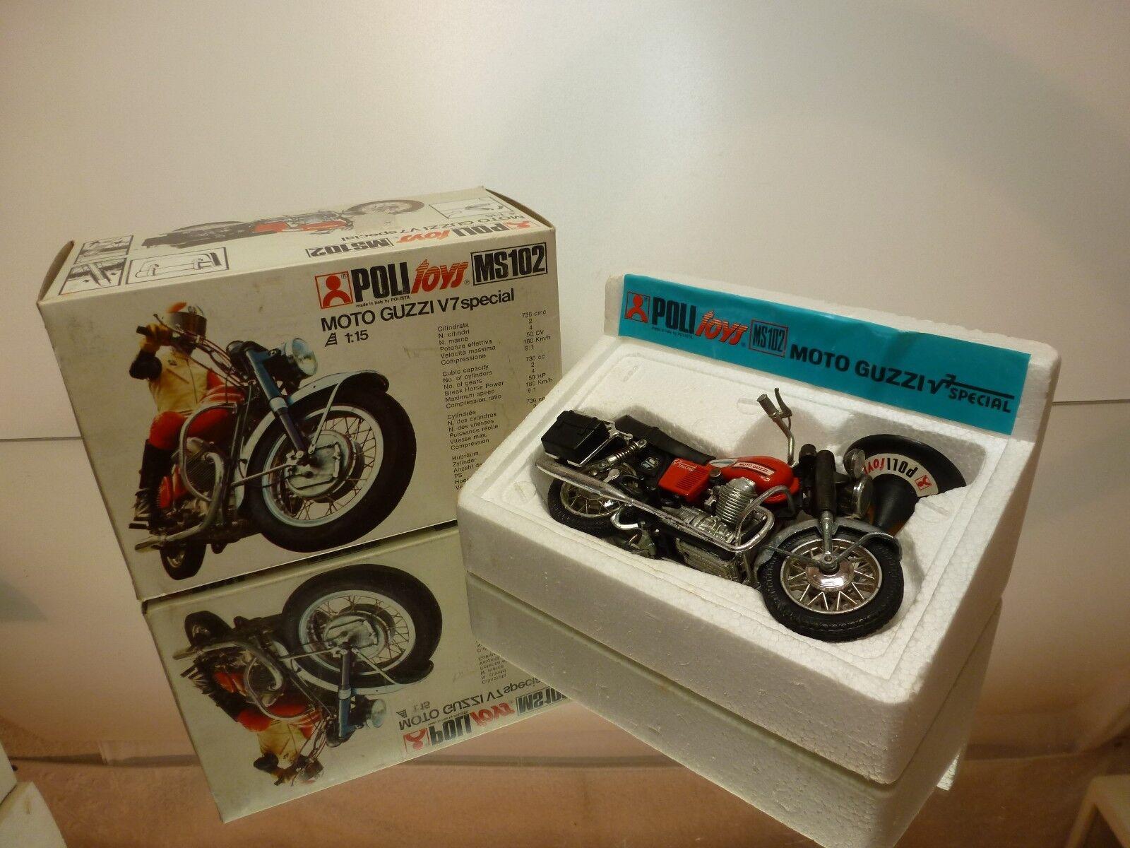 POLISTIL MS102 MOTO GUZZI V7 SPECIAL - rosso 1 15 - GOOD CONDITION IN BOX