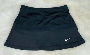 NIKE-DRI-FIT-Womens-039-Black-Tennis-Golf-Exercise-Skirt-Skort-Size-Small
