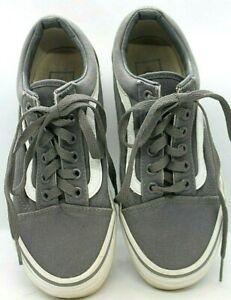 VANS Women's Skate Shoes White striped