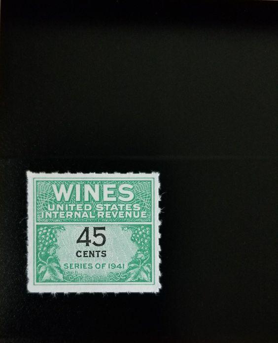 1942 45c U.S. Internal Revenue Cordial & Wine, Green Sc