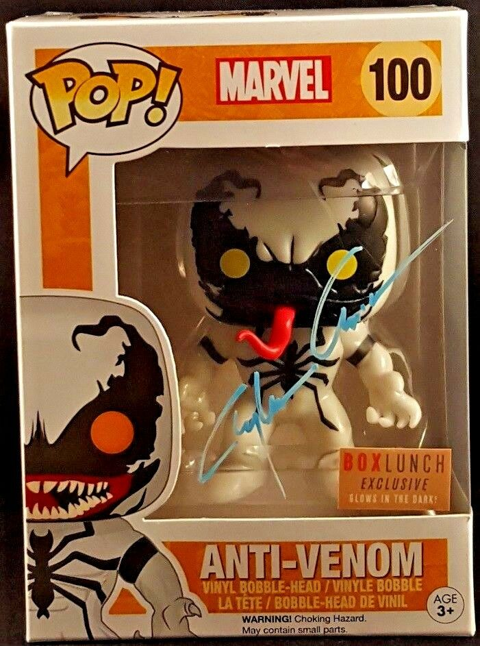 MARVEL Comics divertimentoko POP    ANTI-VENOM  100 Signed by Clayton Crain SPIDER-uomo 9b7c41