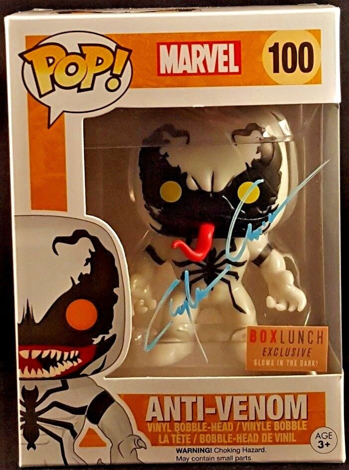 MARVEL Comics Funko POP  ANTI-VENOM ANTI-VENOM ANTI-VENOM Signed by Clayton Crain SPIDER-MAN 80cd2b