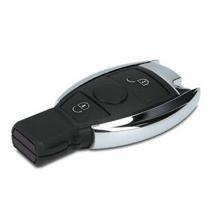 2-Tasten-Autoschluessel-Schluessel-mit-Transponder-433MHz-fuer-Mercedes-Benz