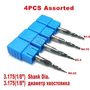 R0-25-amp-0-5-amp-0-75-amp-1-0mm-with-1-8-034-shank-Solid-Carbide-Tapered-Ball-Nose-end-mills