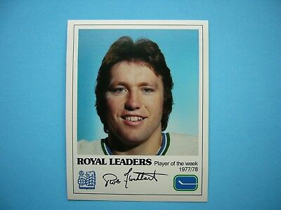 1977/78 ROYAL BANK LEADERS VANCOUVER CANUCKS PHOTO ROB FLOCKHART SHARP!! |  eBay
