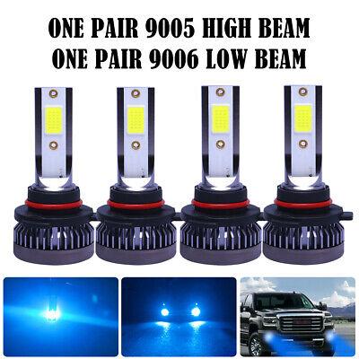 9005 HB3 CREE LED Headlights Bulbs 55W 8000LM Kit High//Low Beam 8000K Ice Blue