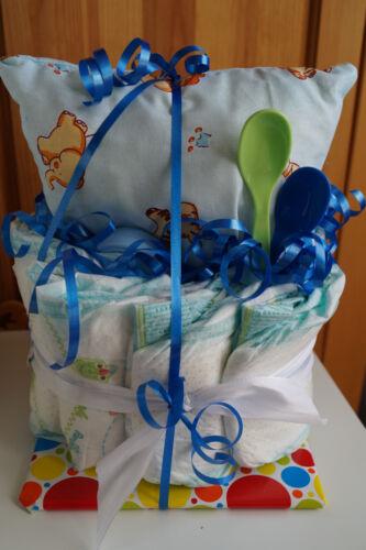 """Windeltorte /"""" Mini /"""" Junge Babyparty Taufe Geschenk zur Geburt"""