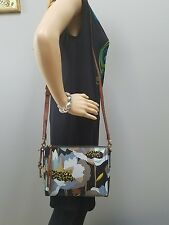 New Fossil Emma Floral Coated Canvas Crossbody Bag Clutch