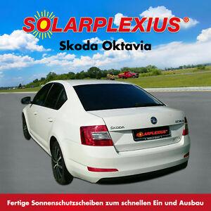 Auto-Sonnenschutz-fertige-Sonnenblenden-SKODA-OCTAVIA-Limo-Typ-5-E-Bj-13