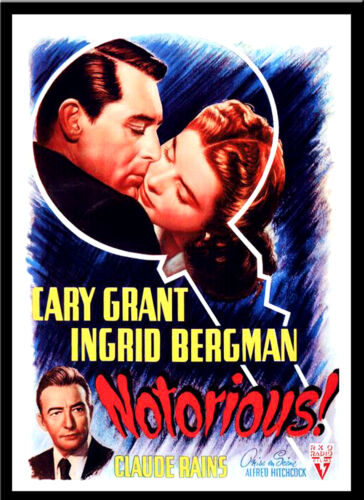 A3 Notorious Alfred Hitchcock Vintage Movie wall Home Posters Retro Art #10