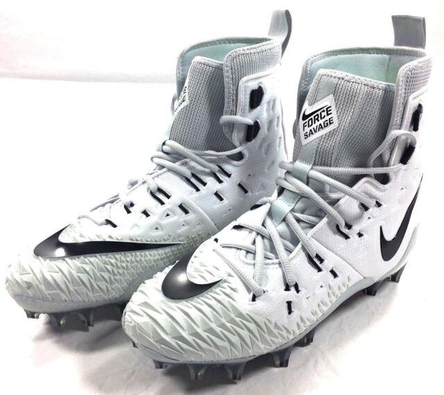 0b94df08af8 Nike Force Savage Elite TD Football Cleats White Black 857063-100 Men s  Size 8