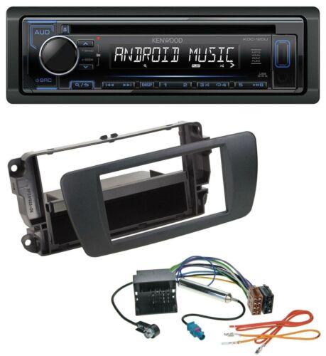 Kenwood 1din mp3 USB CD aux radio del coche para seat ibiza 6j a partir de 08 nitschwarz an1