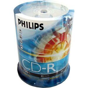100-Pack-52X-Philips-Logo-Blank-CD-R-CDR-Disc-Media-80Min-700MB-in-Cake-Box