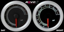 REVO Air Fuel AF A/F Ratio Gauge Meter 52mm WHITE LED