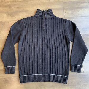 """Mantaray braun & Multi gefleckt Pullover Größe XL 1/4 Zip Mock Ausschnitt Brustumfang 46"""""""