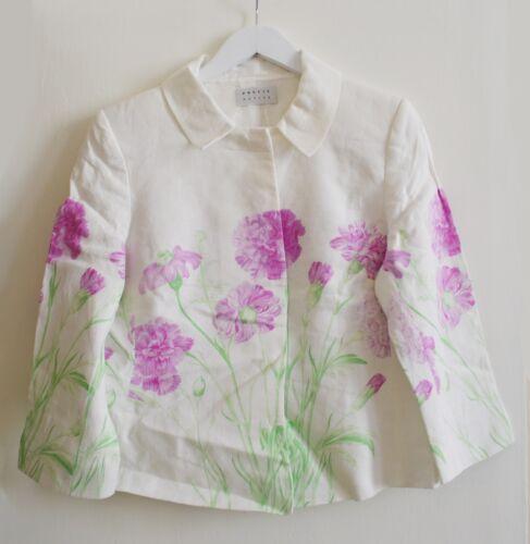 Blazer Precis speciali per occasioni lino 12 Petite in lino bianco in motivo floreale con qwxqnPd4