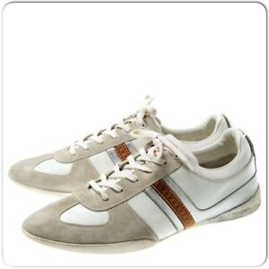 1f39277e Details about Louis Vuitton Men's White Tricolor Leather And Suede Lace Up  Sneakers size 8