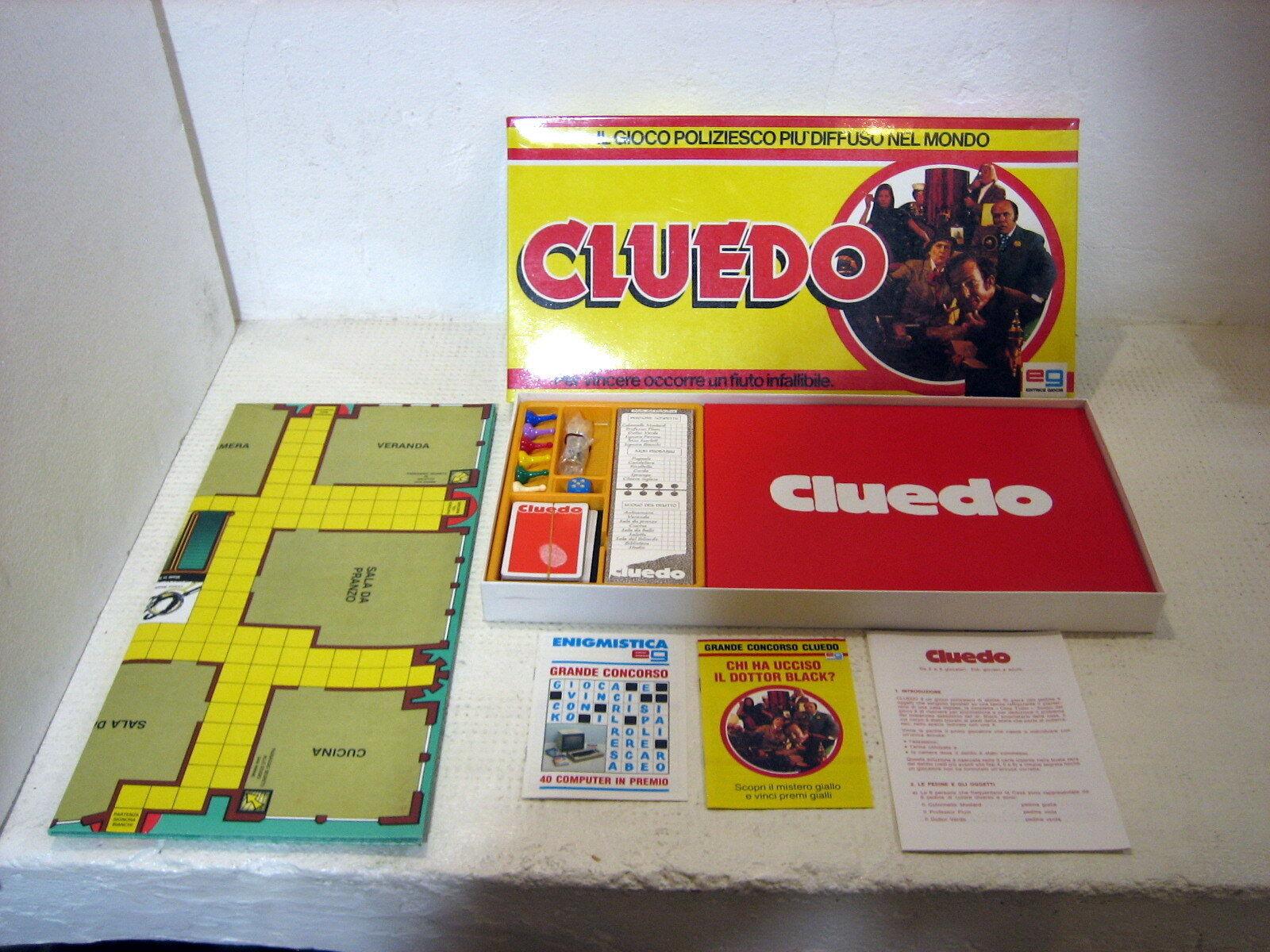 CLUEDO raro gioco in scatola EG 1981 completo e mai usato