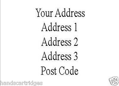 240 A4 Pre Printed Return Address Labels Printed with a Laser Printer
