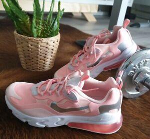 Details zu Nike Air Max 270 react GS apricot grau, Gr : 38 5 24cm, NEU!! Top!