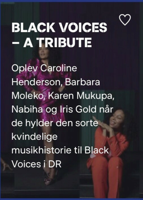 Black Voices, Koncert, Dr koncertsal, d. 18 September, Er…