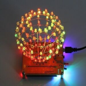 Corlorful-LED-Light-Creative-Cube-Cubic-Ball-Electronic-DIY-Kit-Remote-Control