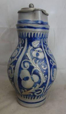 Nach Form & Funktion Symbol Der Marke Alter Mostkrug Geritzt Salzglasur 2 1/2 Liter Mit Zinndeckel Die Neueste Mode Porzellan & Keramik
