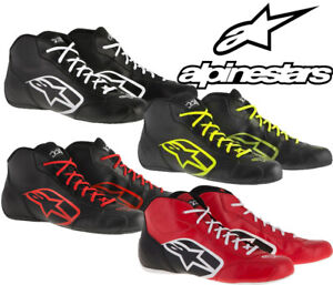 Alpinestars-Tech-1-K-Start-Kart-Boot-Black-White-Yellow-Red-Race-Autograss-SALE