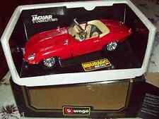"JAGUAR ""E"" Cabriolet 1961 Rossa scala  1/18  Burago Diamonds"