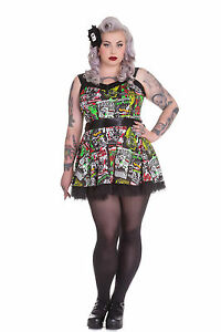 31910bc564e Hell Bunny Plus Size B-Movie Monster Horror Rockabilly Tulle Mini ...