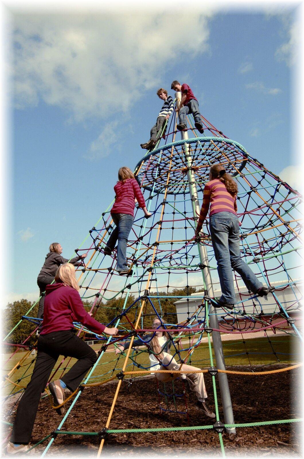 Kletterpyramide Klettergerüst Spielturm Kletterturm 6,50 m Spielplatz öffentlich