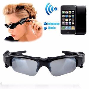 Bluetooth Smart Sunglasses Glasses Headphone Music Headset Stereo Micphone New