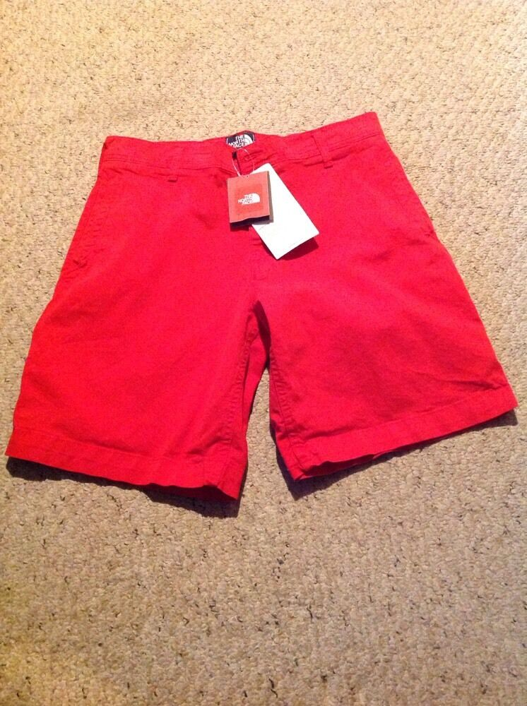 New With Tags The North Face Men's 36 Reg, Alderson Shorts, Fiery Red.