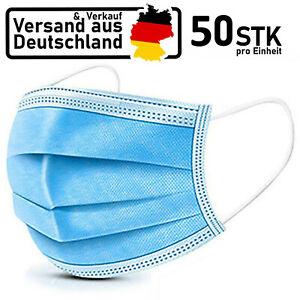 50x Mundschutz Maske OP Gesichtsmaske Atemschutz Schutzmaske Filtermaske 3-Lagig