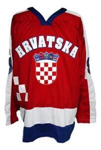 Any Name Number Size Hrvatska Croatia Retro Custom Hockey Jersey Red