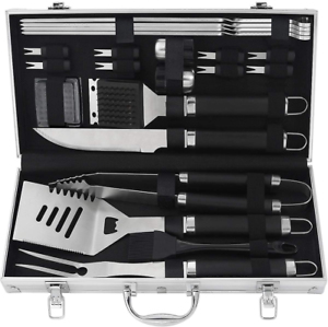 POLIGO 22PCS Camping BBQ Grill Accessories Stainless Steel BBQ Tools Grilling -