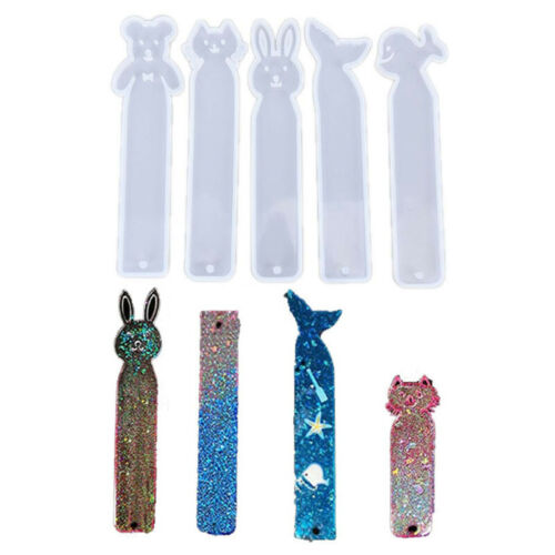 Resin Bookmark Mould Rectangle Animal Silicone Mold DIY Making Epoxy Jewelry ZB