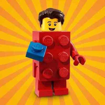 GENUINE LEGO MINIFIGURES MINIFIG Series 18 Brick Suit Guy Complete Set col18-2