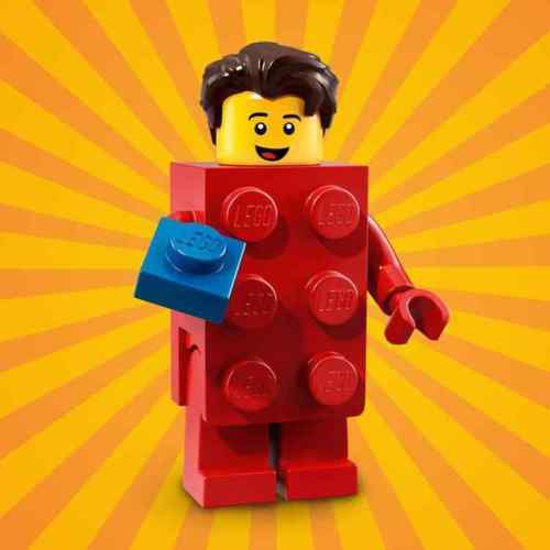 Minifiigure Series 18,71021 New Col18-2 Party 40th Lego Brick Suit Guy Red