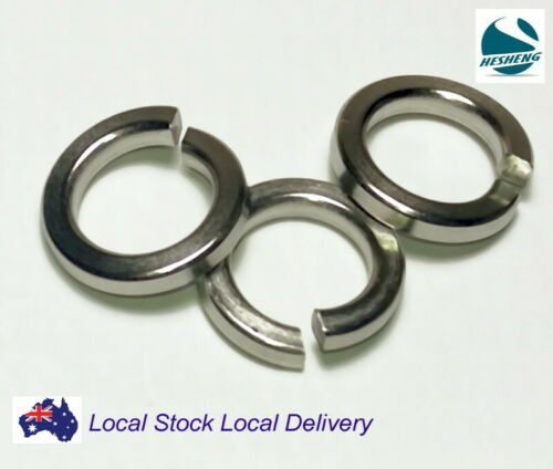 Qty 100 M6 316 A4 Marine Grade Stainless Steel Spring Washer Suit 6mm Screw Bolt