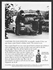1974 Jack Daniel's Whiskey Barrel in Mercedes-Benz Trunk photo vintage print ad