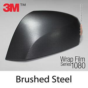 20x30cm film brushed steel 3m 1080 br201 vinyl covering new series wrap film ebay. Black Bedroom Furniture Sets. Home Design Ideas