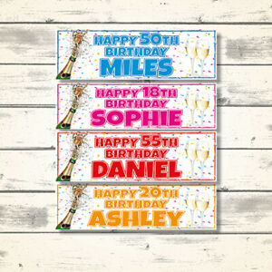 2-PERSONALISED-CHAMPAGNE-BIRTHDAY-PARTY-BANNERS-ANY-NAME-AGE-18TH-21ST-60TH